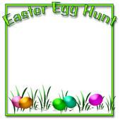 Easter egg hunt clipart border image transparent library Easter egg hunt clipart border - ClipartFest image transparent library