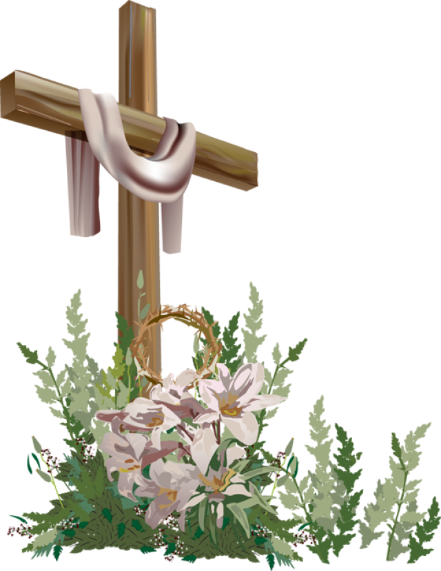 Cross lilies clipart.  easter activities for