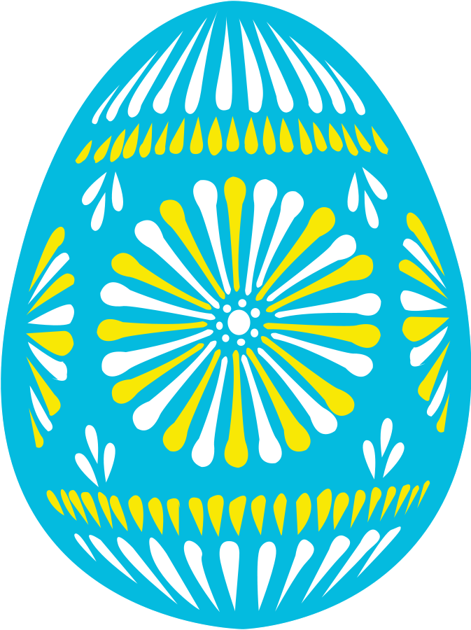 Easter egg hunt clipart christian picture library stock Large size Easter egg blue Clipart vector | Pisanki | Pinterest ... picture library stock