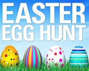 Free Easter Egg Hunt Clipart png black and white stock