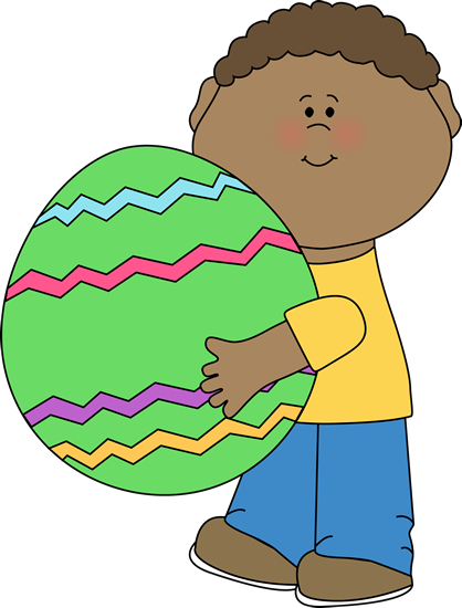 Clipart of kids hunting easter eggs - ClipartFest vector download