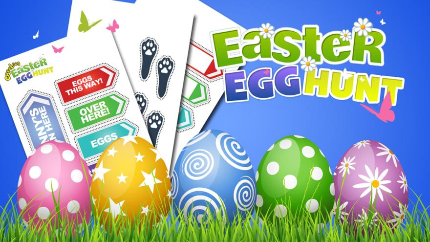 Easter Egg Hunt Kit - CBeebies - BBC svg black and white