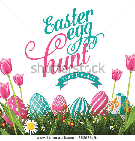 Easter egg hunt sign clipart vector black and white Easter Egg Hunt Stock Images, Royalty-Free Images & Vectors ... vector black and white