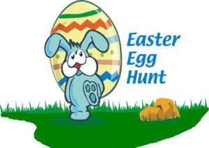 Easter egg hunt sign clipart image Easter Egg Hunt @ the Library! | Laguna Public Library - Laguna ... image