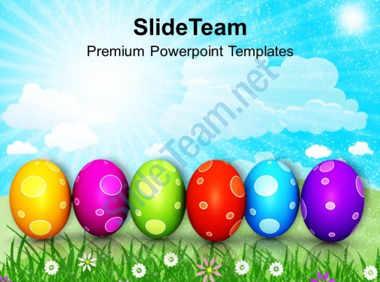 Easter egg row clipart banner library stock Easter Egg Clipart Colourful Eggs In Row Powerpoint Templates Ppt ... banner library stock