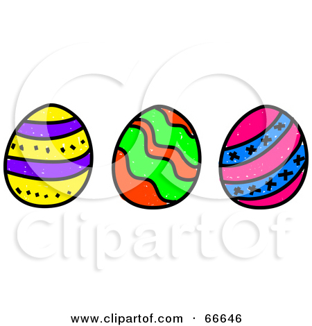Easter egg row clipart banner library stock Easter row clipart - ClipartFest banner library stock