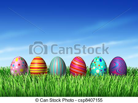 Easter egg row clipart library Stock Illustrations of Easter Eggs - Easter Egg hunt with easter ... library