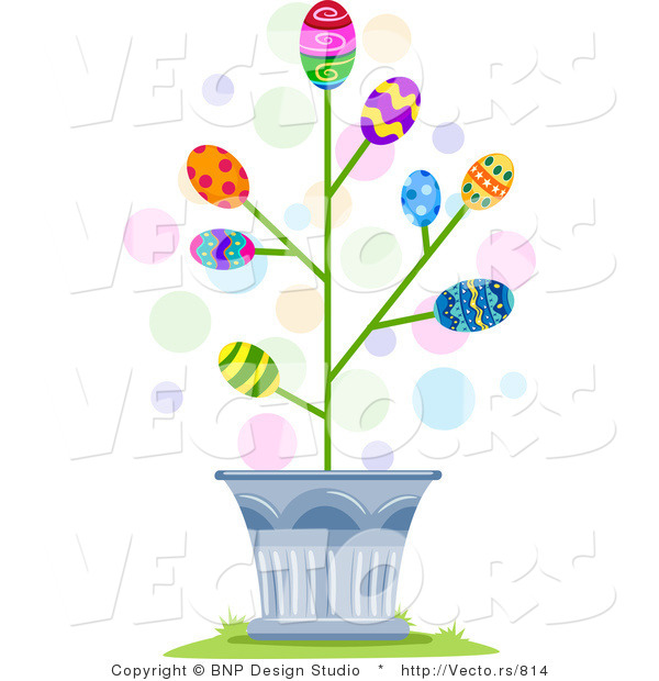 Easter egg tree clipart clip art transparent Cartoon Vector of Easter Eggs Blossoming in a Tree by BNP Design ... clip art transparent