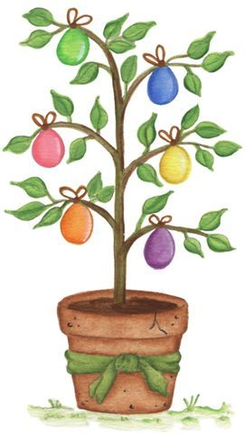 Easter egg tree clipart svg royalty free 17 Best images about Easter illustrations on Pinterest | Clip art ... svg royalty free