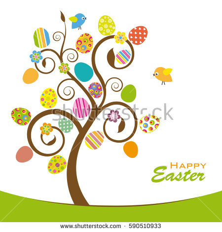 Easter egg tree clipart picture transparent download Easter Colored Eggs Tree Stock Photos, Royalty-Free Images ... picture transparent download