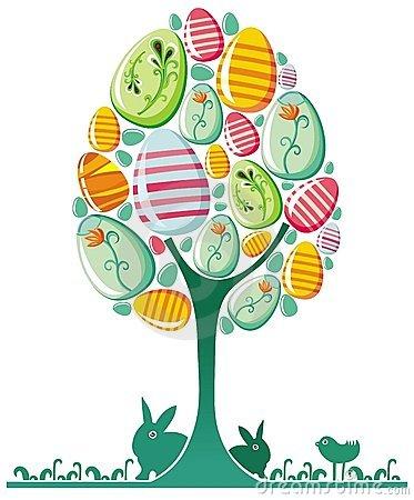 Easter egg tree clipart clip art free Easter Tree Clipart - Clipart Kid clip art free
