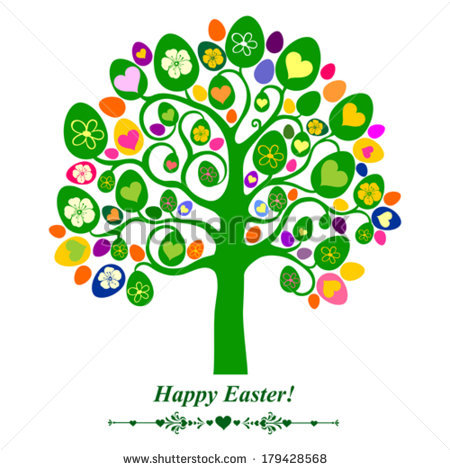 Easter egg tree clipart vector black and white library Easter Egg Tree Stock Photos, Royalty-Free Images & Vectors ... vector black and white library