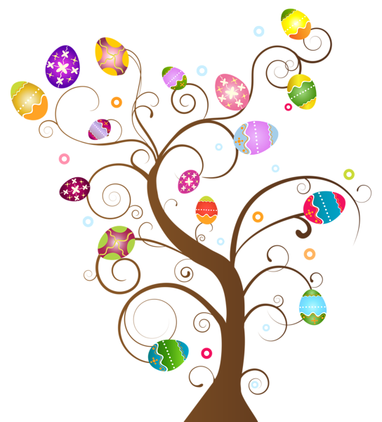 Easter egg tree clipart vector library stock Easter Egg Tree PNG Clip Art Image vector library stock