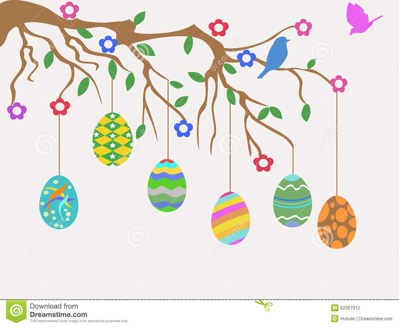 Easter egg tree clipart banner black and white library Easter egg tree clipart - ClipartFest banner black and white library