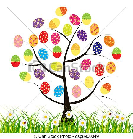 Easter egg tree clipart clipart library stock Easter egg tree clipart - ClipartFest clipart library stock