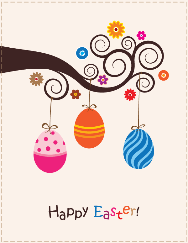 Easter egg tree clipart vector library Easter egg tree clipart - ClipartFest vector library