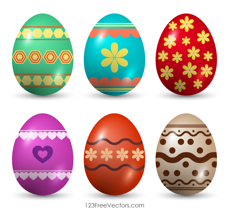 Easter egg vector clipart graphic transparent stock Painted Easter Eggs Clip Art | kids night | Easter, Easter eggs, Eggs graphic transparent stock