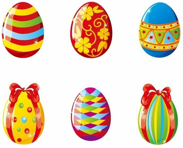 Easter egg vector clipart picture free download Colorful Easter Eggs Vector Illustration Free vector in Encapsulated ... picture free download