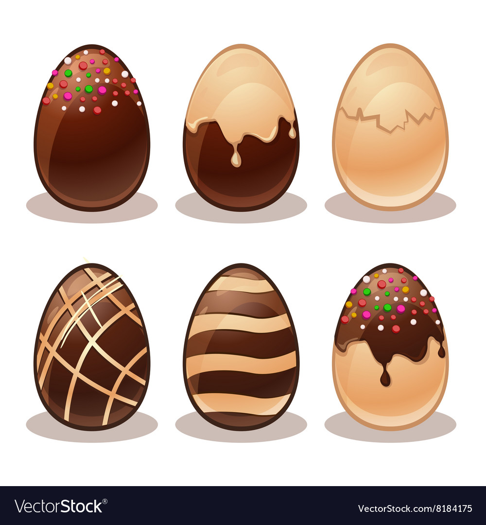 Easter egg vector clipart svg royalty free download Happy Easter-Ferrous and White Chocolate eggs svg royalty free download