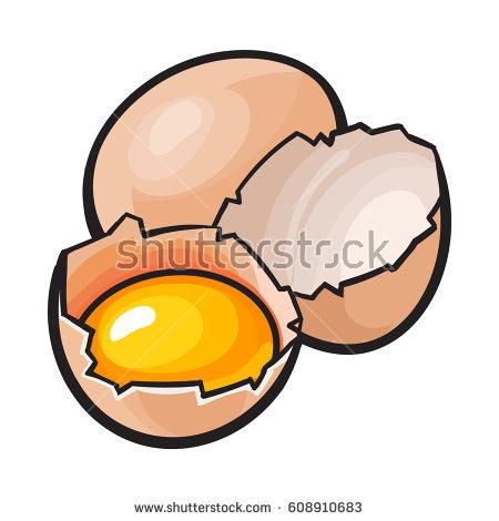 Easter egg yolk clipart image library Yolk Stock Vectors, Images & Vector Art   Shutterstock image library
