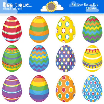 Easter eggs clipart image free library Clipart- Easter Eggs Digital Clip Art. Bright Easter Eggs Clipart. image free library