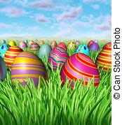 Easter eggs hunt clipart clipart black and white library Egg hunt Illustrations and Clip Art. 4,562 Egg hunt royalty free ... clipart black and white library