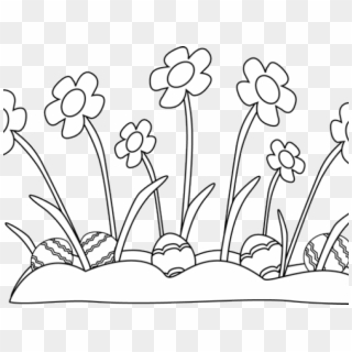 Easter flower border black and white clipart banner freeuse library Calla Lilly Border Clipart Clipart Collection Easter - Transparency ... banner freeuse library