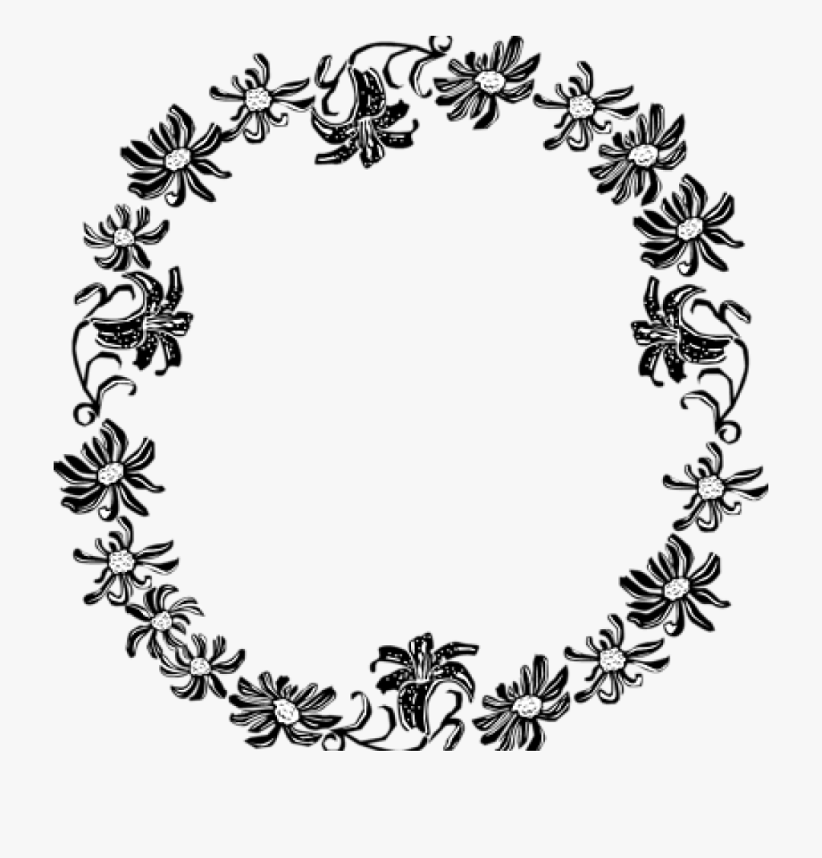 Easter flower border black and white clipart banner library Border Clipart Black And White Black And White Flower - Free Flower ... banner library