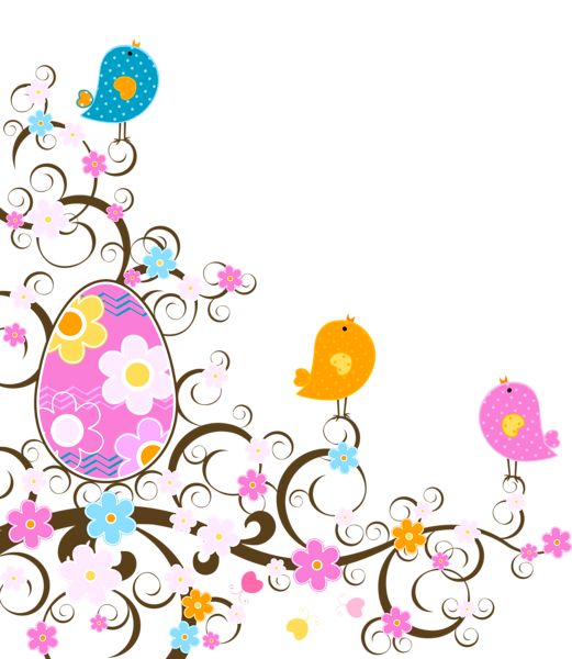 Easter flower clipart clip transparent Easter Decoration with Flowers PNG Transparent Clipart | Clip_ART ... clip transparent