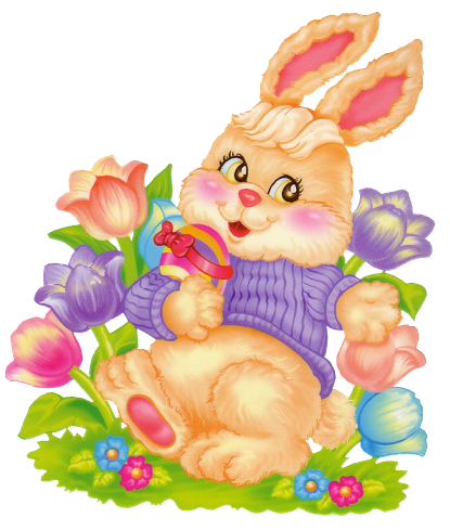 Easter flower clipart png svg royalty free Easter_Bunny_with_Flowers_Clipart.png?m=1362178800 svg royalty free