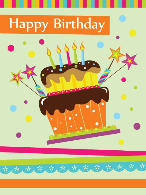 Free Birthday Cards | vector set of Happy birthday cake card ... graphic free