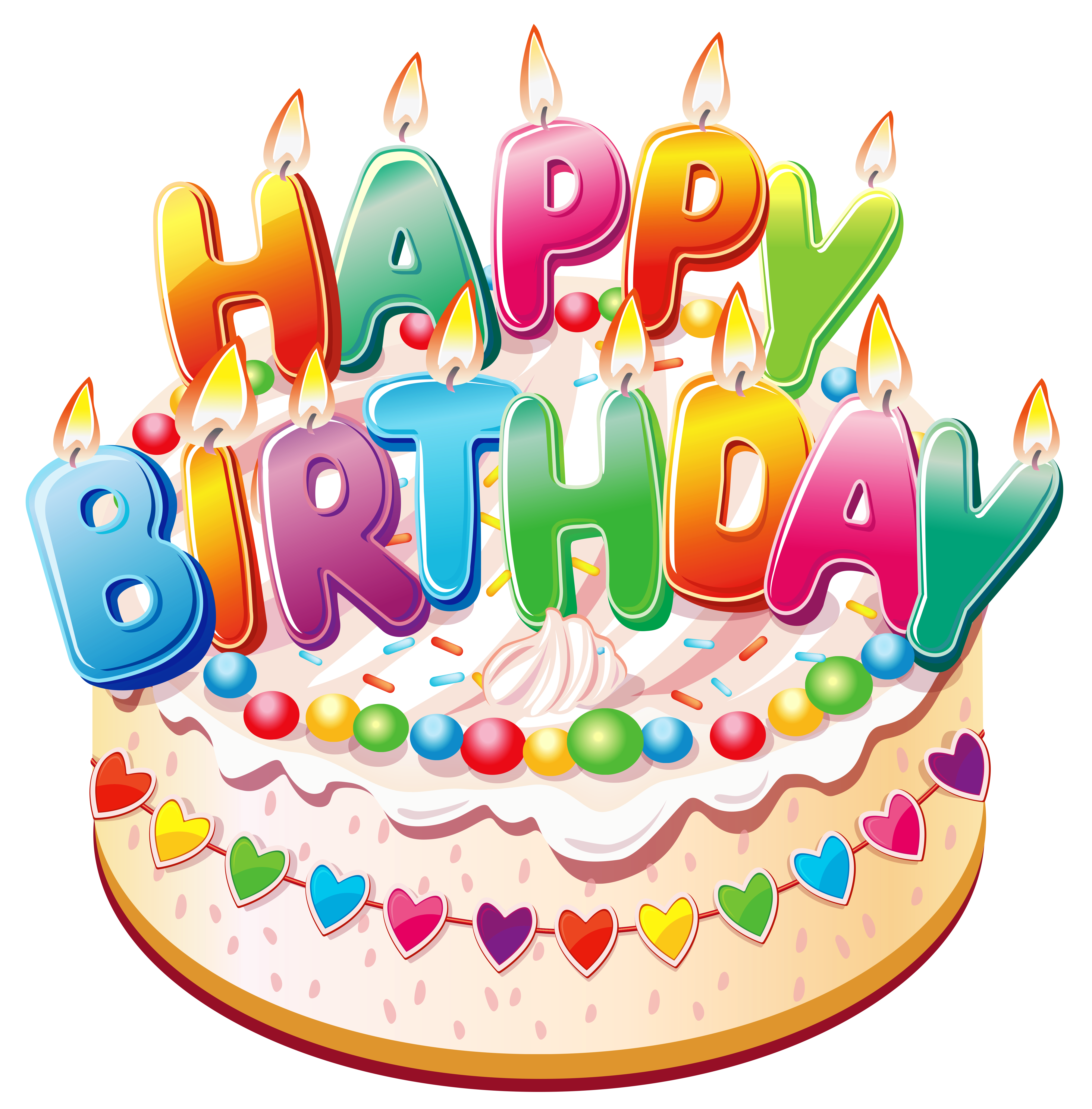 Happy birthday cake clipart - ClipartFest freeuse stock