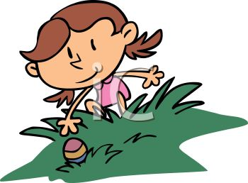 Easter hunt clipart clip art royalty free library Royalty Free Clip Art Image: Girl Reaching for an Easter Egg ... clip art royalty free library