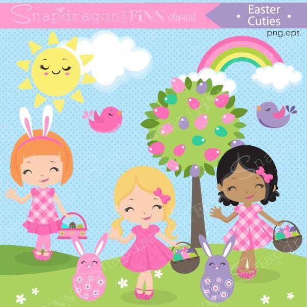 Easter hunt clipart svg black and white download Easter Egg Hunt Clipart – snapdragonandfinn svg black and white download