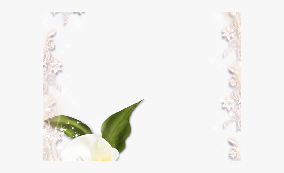 Easter lily border clipart image library stock Easter Flower Clipart Frame - White Calla Lily Borders #1262070 ... image library stock