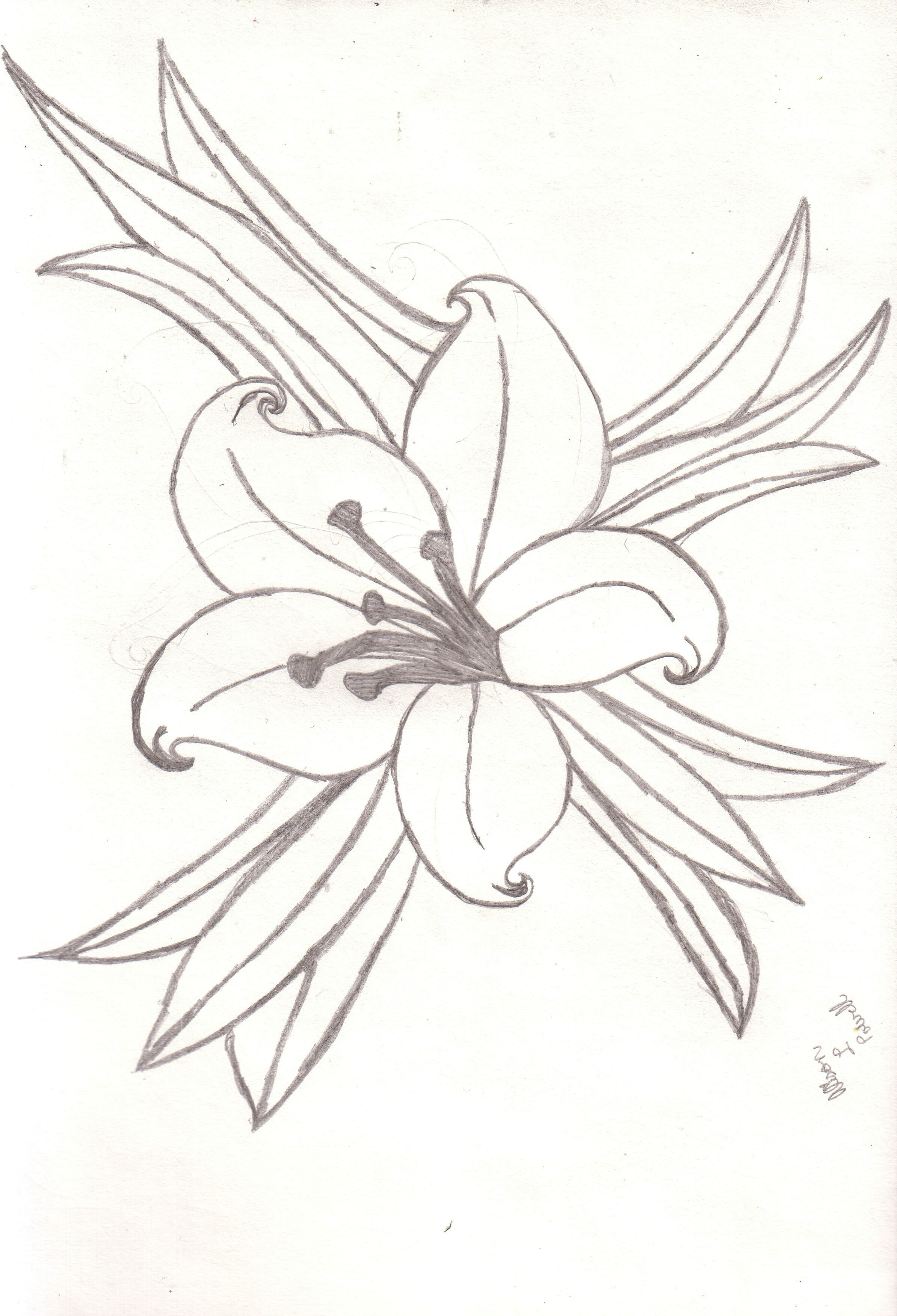 Easter lily spray black & white clipart image transparent library Easter Lily Tattoos | Tattoos | Lily tattoo design, Lilies drawing ... image transparent library