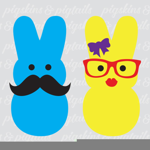 Peeps clipart graphic black and white stock Easter Peeps Clipart | Free Images at Clker.com - vector clip art ... graphic black and white stock