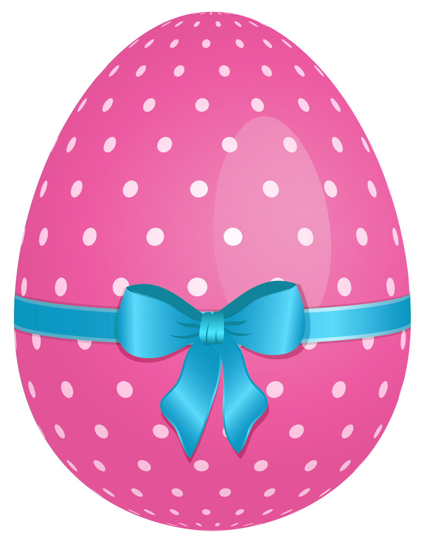 Easter ribbon clipart jpg transparent stock Pink Dotted Easter Egg with Blue Bow PNG Clipart | Gallery ... jpg transparent stock