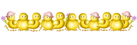 Easter row clipart picture transparent library Yellow Baby Easter Chicks Clip Art Stock Images - Image: 4026224 picture transparent library