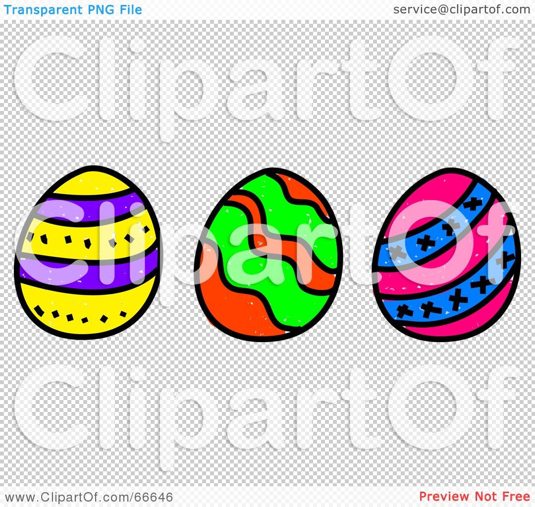 Easter row clipart clip royalty free download Royalty-Free (RF) Clipart Illustration of a Sketched Row of Three ... clip royalty free download