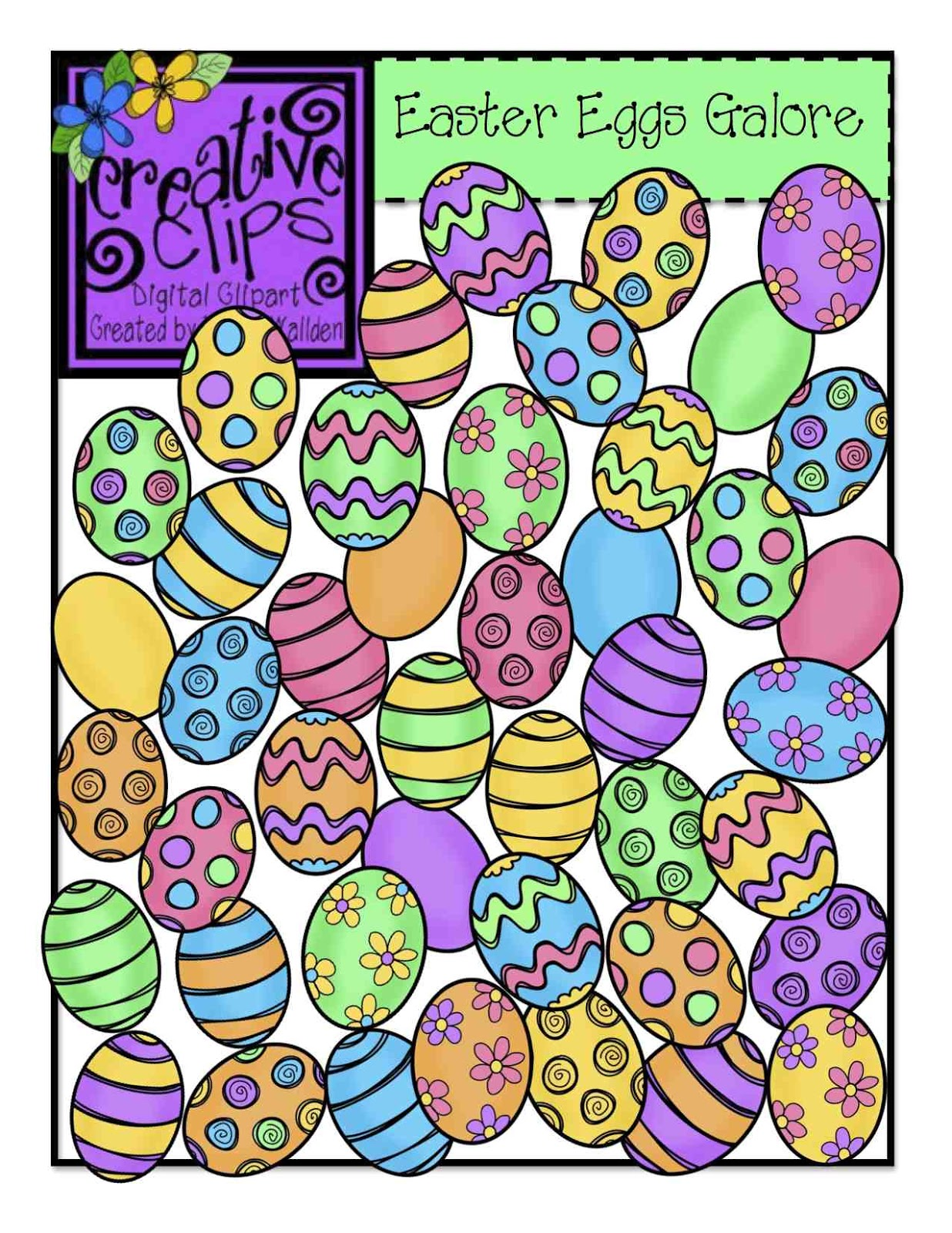 Easter row clipart svg royalty free library The Creative Chalkboard: Easter Egg Clipart Freebie Challenge!! svg royalty free library