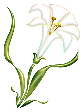 Easter row lilies clipart png black and white download Easter row lilies clipart - ClipartFest png black and white download