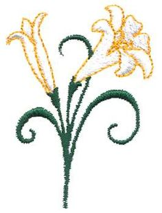 Easter row lilies clipart image royalty free Easter Lily applique | Arts and Crafts Lily Corner | stole ideas ... image royalty free