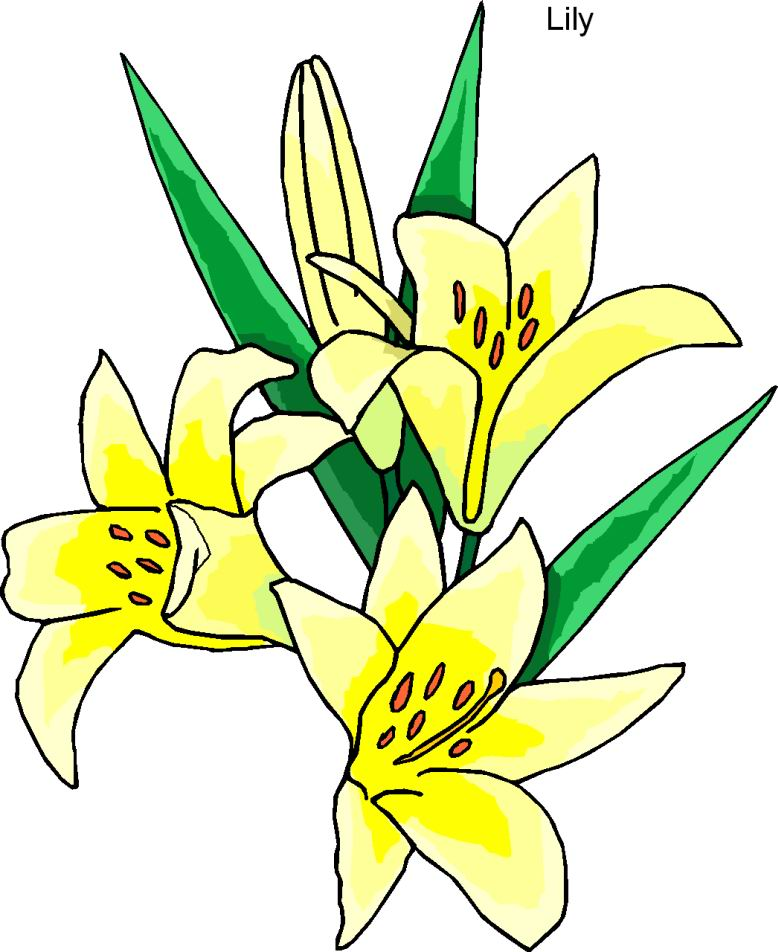 Easter row lilies clipart svg library library Free Clipart Easter Flowers - ClipArt Best svg library library