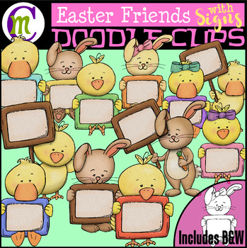 Easter signs clipart png free library Easter Clipart | Easter Friends with Signs png free library