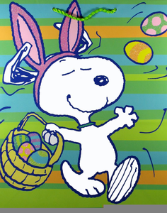 Easter snoopy clipart graphic freeuse download Free Snoopy Easter Clipart | Free Images at Clker.com - vector clip ... graphic freeuse download