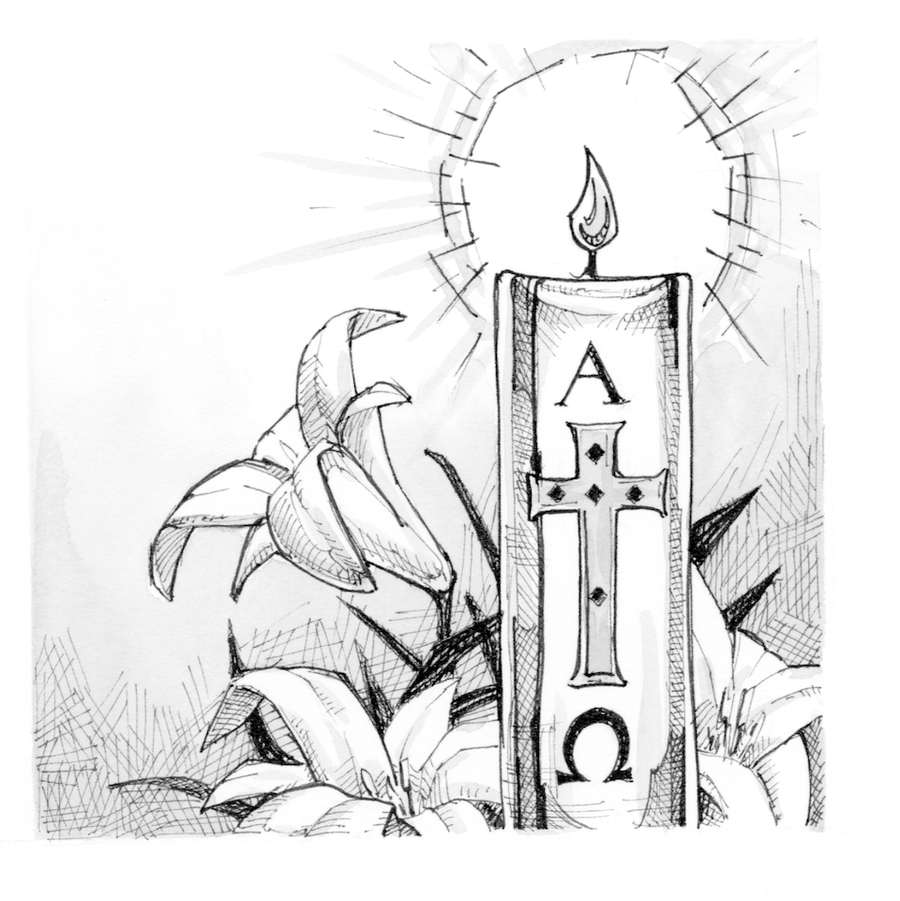 Easter vigil clipart graphic library Download paschal candle clipart Paschal candle Easter Vigil Clip art ... graphic library