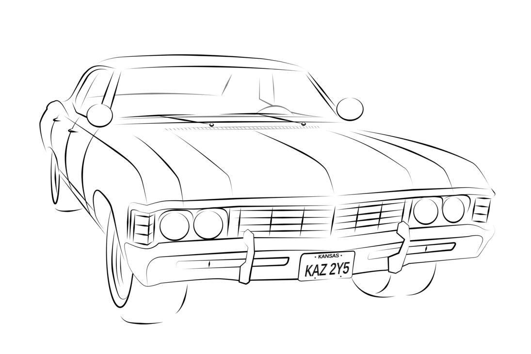 Easy car clipart picture black and white download Chevrolet impala silhouette PNG Clipart - Download free images in PNG picture black and white download