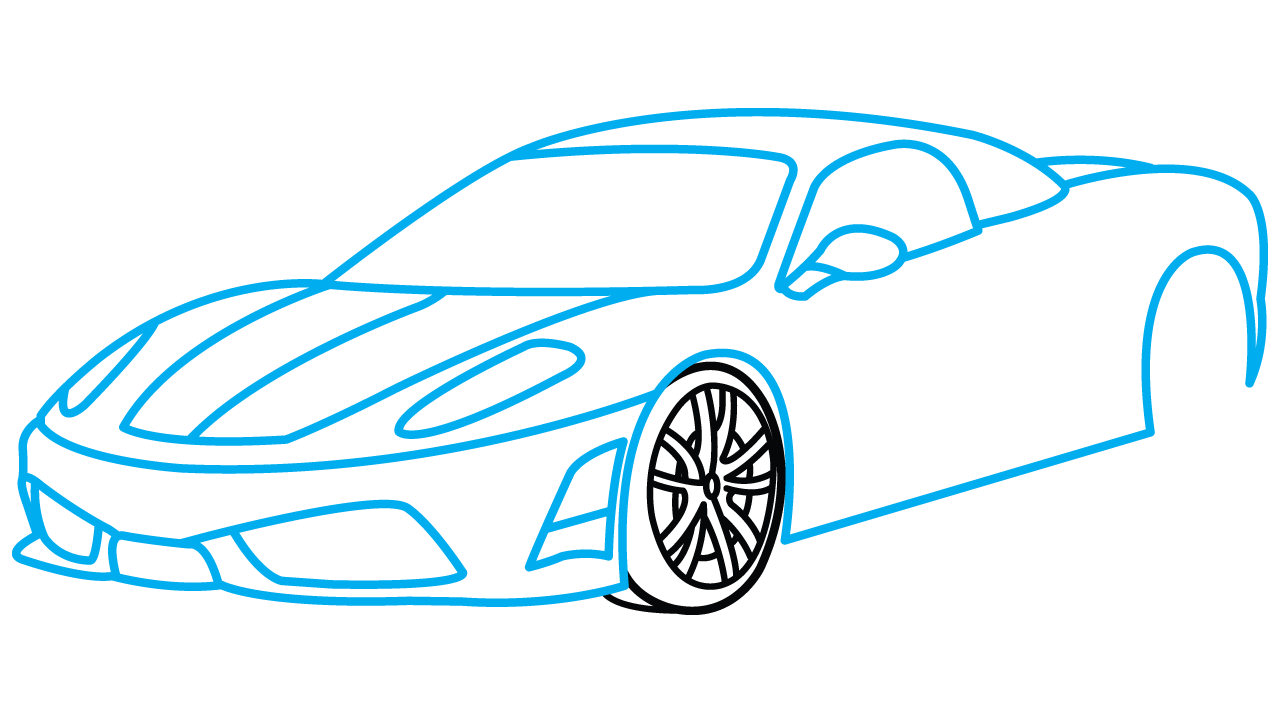 Easy car clipart clip art black and white download Simple Car Drawing Step Step at GetDrawings.com | Free for personal ... clip art black and white download