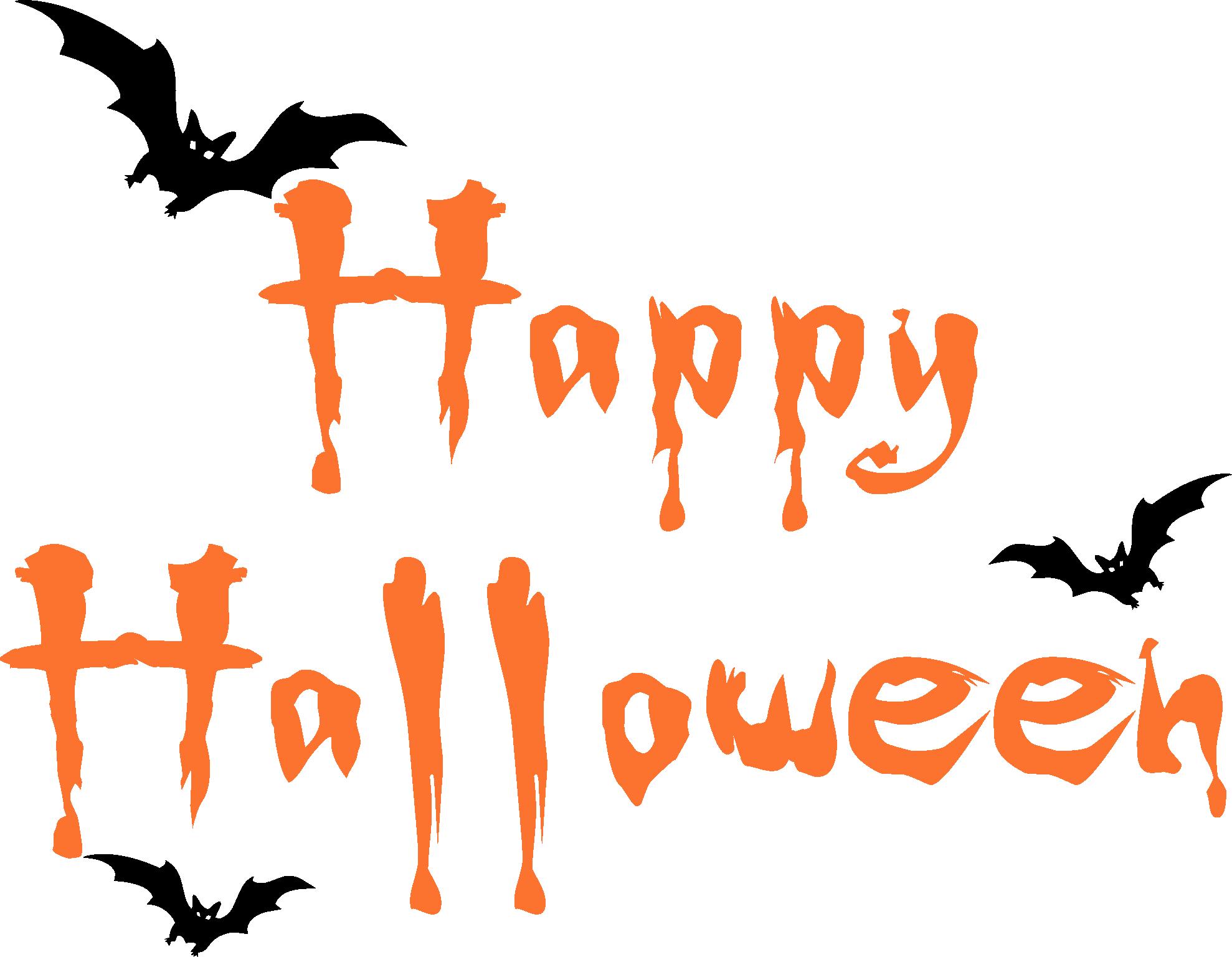Easy halloween clipart. Happy bats trading phrases